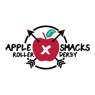 Apple Smacks Roller Derby Logo
