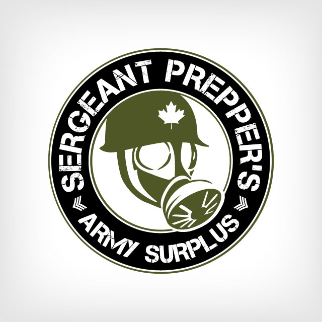 Sgt Preppers Army Surplus Logo