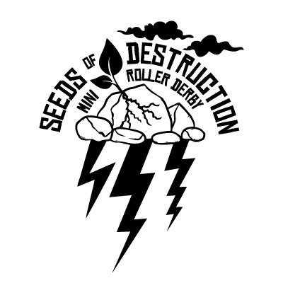 Seeds of Destruction Mini Roller Derby Logo